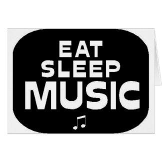 Eat Sleep Music Greeting Card