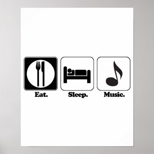 eat sleep music print