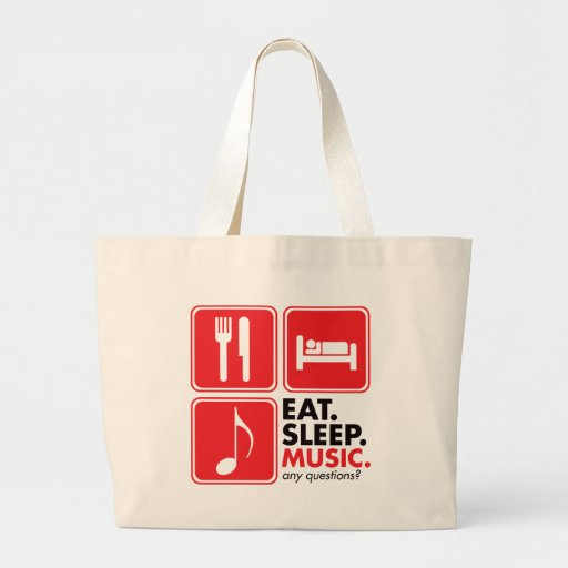 Eat Sleep Music - Red Tote Bag