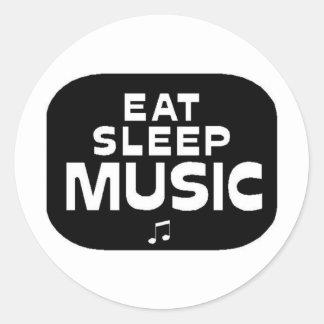 Eat Sleep Music Sticker