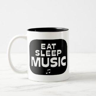 Eat Sleep Music Two-Tone Coffee Mug