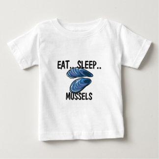 Eat Sleep MUSSELS Baby T-Shirt