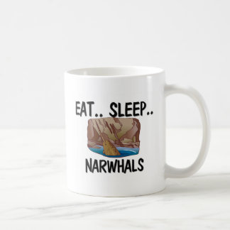 Eat Sleep NARWHALS Classic White Coffee Mug