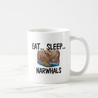 Eat Sleep NARWHALS Coffee Mug