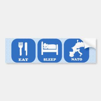 Eat Sleep Nato Bumper Stickers