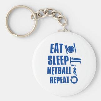 Eat sleep Netball Keychain