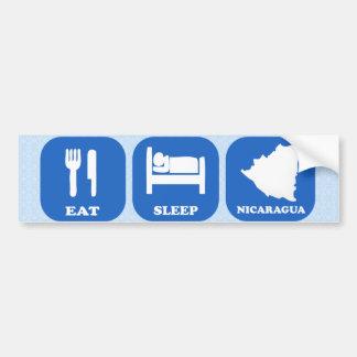 Eat Sleep Nicaragua Car Bumper Sticker