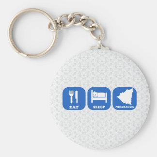 Eat Sleep Nicaragua Keychain