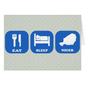 Eat Sleep Niger Greeting Card