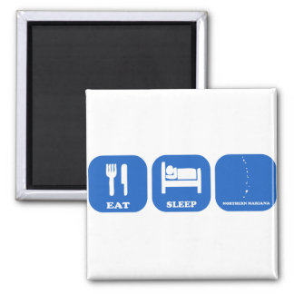 Eat Sleep Northern Mariana 2 Inch Square Magnet