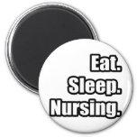 Eat. Sleep. Nursing. 2 Inch Round Magnet