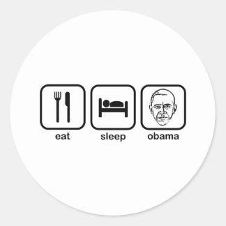 Eat Sleep Obama Classic Round Sticker