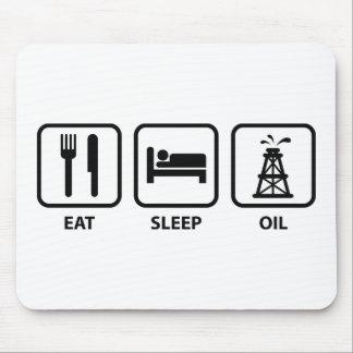 Eat Sleep Oil Mouse Pad