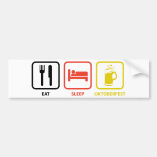 Eat Sleep Oktoberfest Bumper Sticker