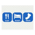 Eat Sleep Oman Post Cards