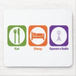 Eat Sleep Operate a Radio Mouse Pad