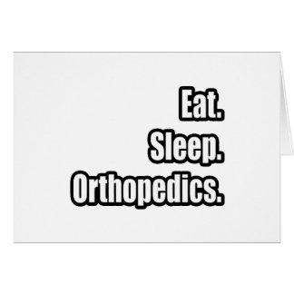 Eat. Sleep. Orthopedics. Greeting Card