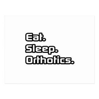 Eat. Sleep. Orthotics. Postcard