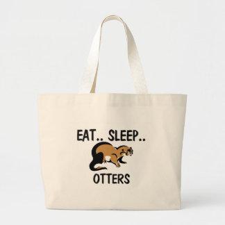 Eat Sleep OTTERS Tote Bags