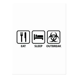 Eat Sleep Outbreak Postcard