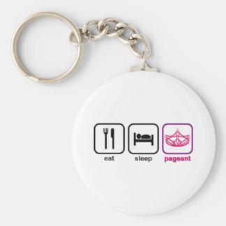 Eat Sleep Pageant Keychain
