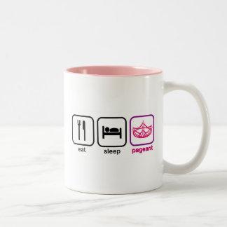 Eat Sleep Pageant Two-Tone Coffee Mug