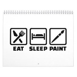 Eat sleep paint calendar