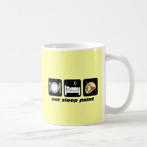Eat sleep paint coffee mug zazzle for How to paint a mug