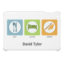 Eat Sleep Paint iPad Mini Covers