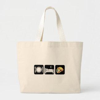 Eat sleep paint jumbo tote bag