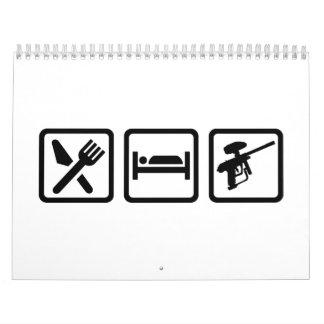 Eat sleep Paintball Calendar