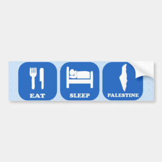 Eat Sleep Palestine Bumper Sticker