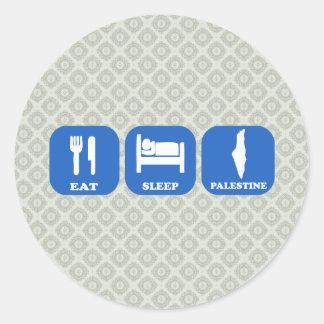 Eat Sleep Palestine Classic Round Sticker