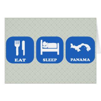 Eat Sleep Panama Greeting Card