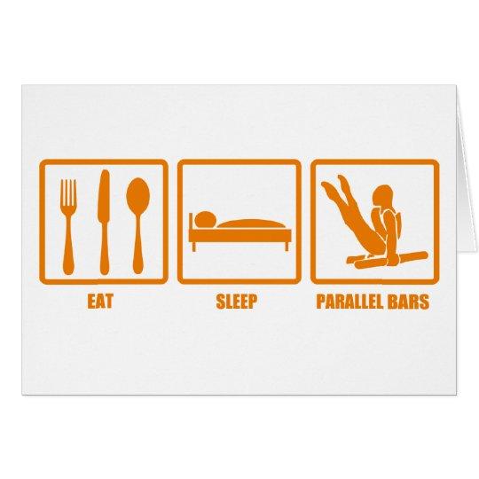 Eat Sleep Parallel Bars Card
