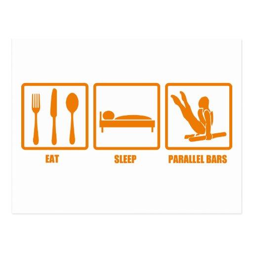 Eat Sleep Parallel Bars Post Cards
