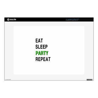 Eat Sleep Party Repeat Skin For Laptop