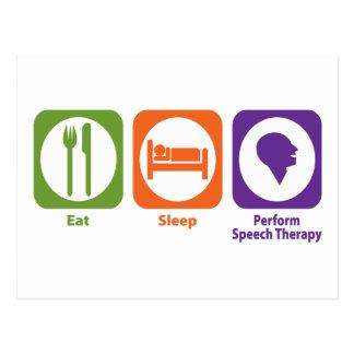 Eat Sleep Perform Speech Therapy Postcard