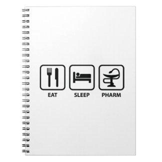 Eat Sleep Pharm Spiral Note Book