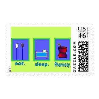 Eat Sleep Pharmacy Pharmacist Gifts Stamp