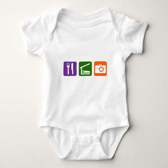 Eat Sleep Photography Baby Bodysuit