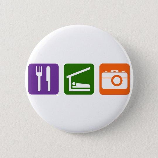 Eat Sleep Photography Button