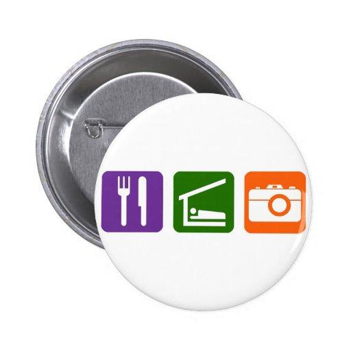 Eat Sleep Photography Buttons