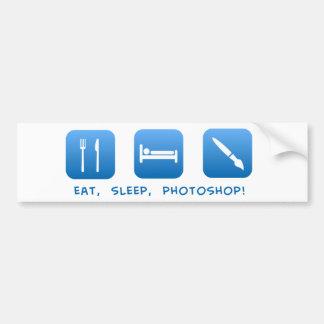 Eat, Sleep, Photoshop Bumper Sticker