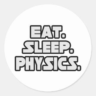 Eat Sleep Physics Classic Round Sticker