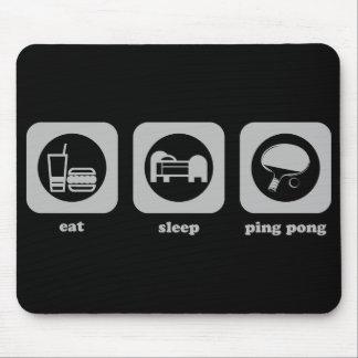 Eat. Sleep. Ping Pong. Mousepad