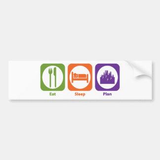 Eat Sleep Plan Bumper Sticker