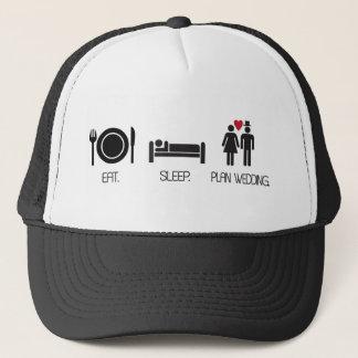 eat.sleep.plan wedding trucker hat