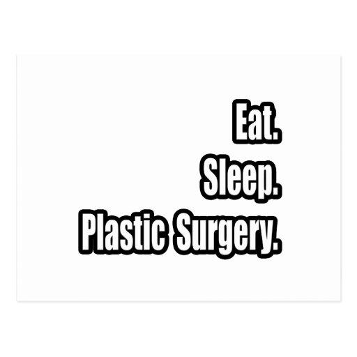 Eat. Sleep. Plastic Surgery. Postcard