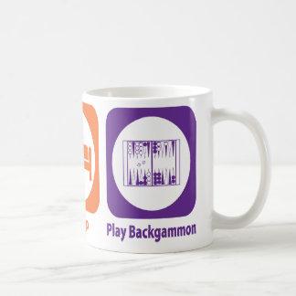 Eat Sleep Play Backgammon Coffee Mug